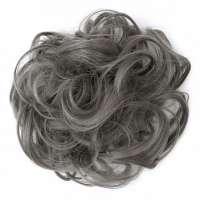 Haar scrunchie met elastiek medium grijs