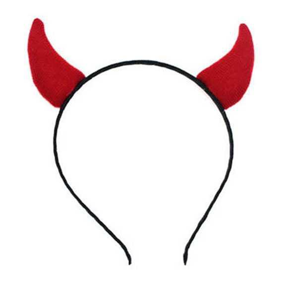 Halloween haarband met rode duivels hoorntjes