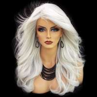Pruik lang haar met slagen model Phoenix kleur 60