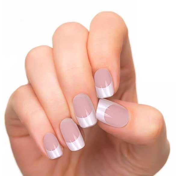 French manicure kunstnagels / nep nagels model 43 incl. lijm