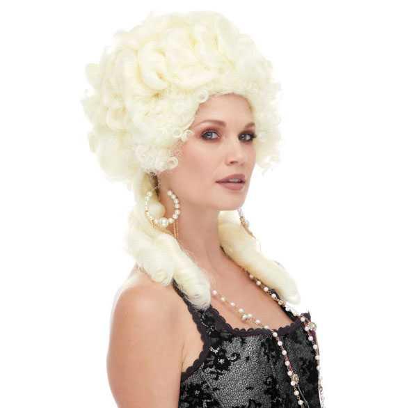 Luxe Marie Antoinette hofdame barok pruik