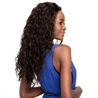 Lace pruik met lang krullend bruin haar model Naomi