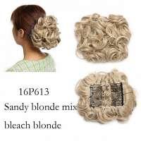 Chignon elastisch haarstukje / vlinderkam kleur 16P613