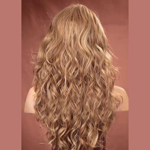 Pruik blondmix lang haar met krullen Gabby kleur F14/22