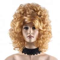 Diva / Drag Queen pruik groot volume goudblond