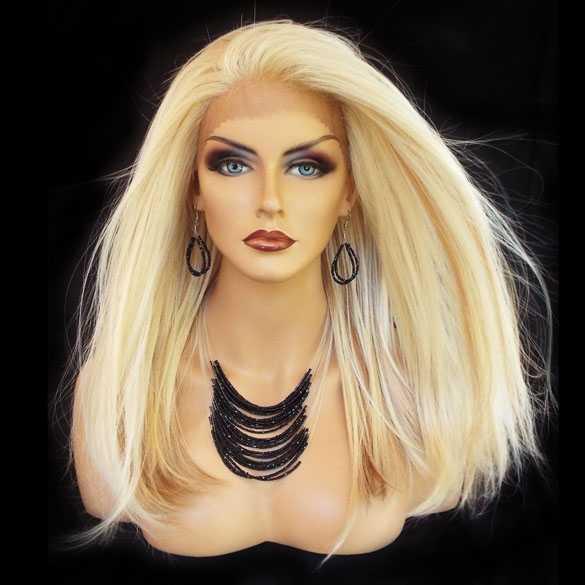 Lace pruik mix met echt haar model Charity kleur FS613-27