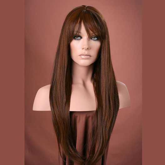 Pruik mix met echt haar model Trisha kleur H27/4/30