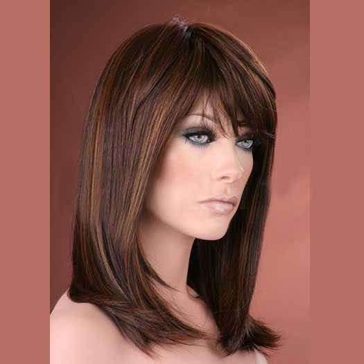 Populair Luxe pruik halflang haar bruinmix model Missy kleur P4-27-30 @AO56