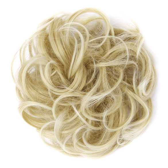 Haar scrunchie met elastiek blondmix 22T613