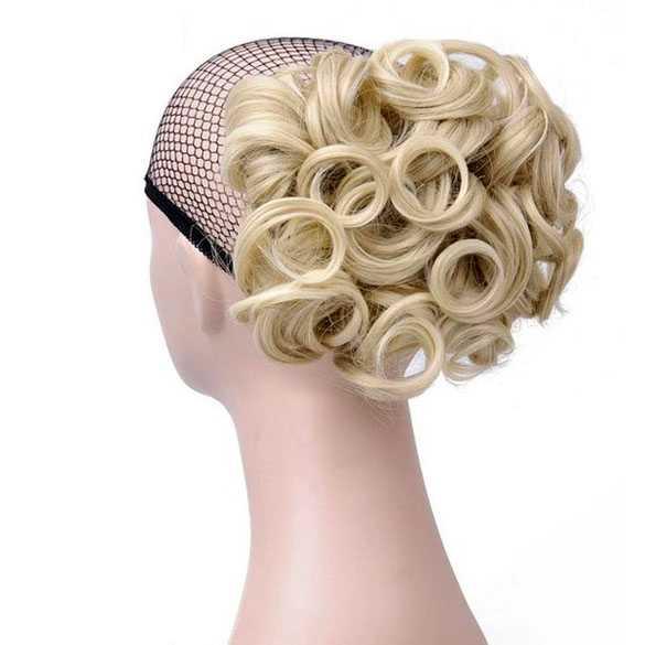 Chignon elastisch haarstukje / vlinderkam kleur 24H613