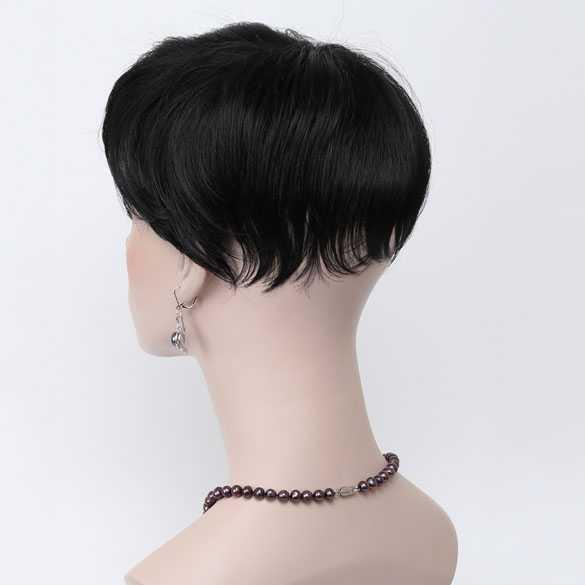 AANBIEDING : Haartopper met clips zwart kleur 1