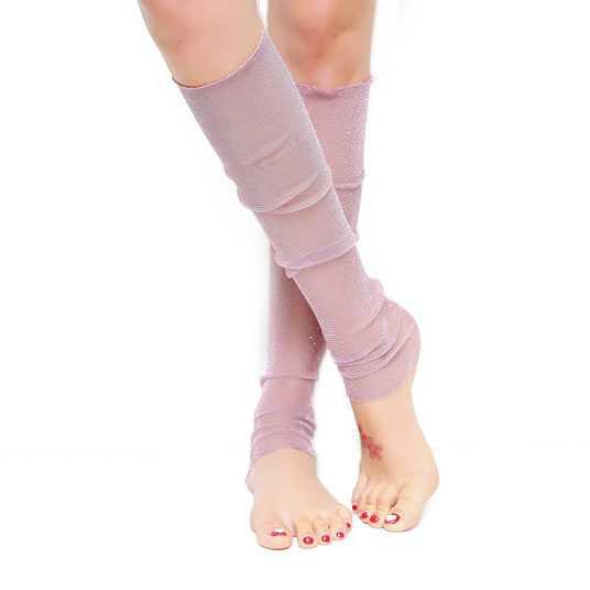 Feestelijke lange mouwen pastel roze met zilverdraad