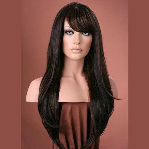 Pruik mix met echt haar model Trisha kleur P1B-30