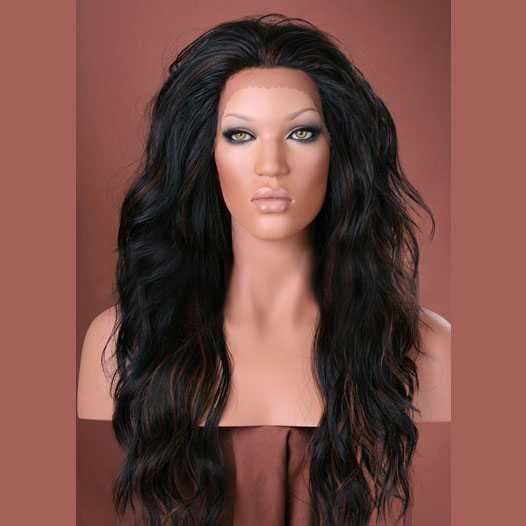Lace pruik lang golvend haar model Yvonne kleur FS1B/30