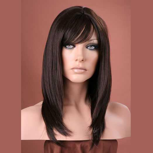Pruik mix met echt haar model Miranda kleur 4