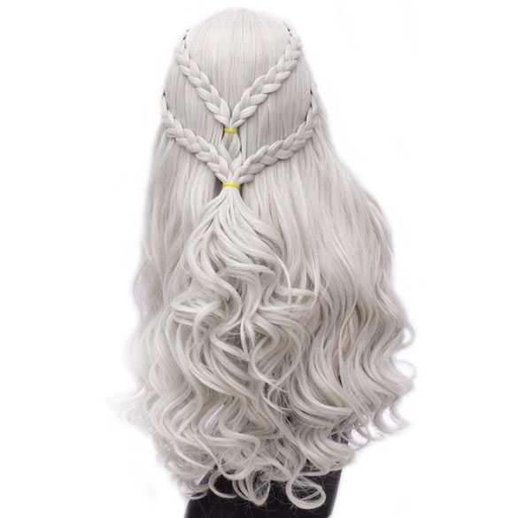 Game of Thrones pruik witgrijs Princess Daenerys Targaryen
