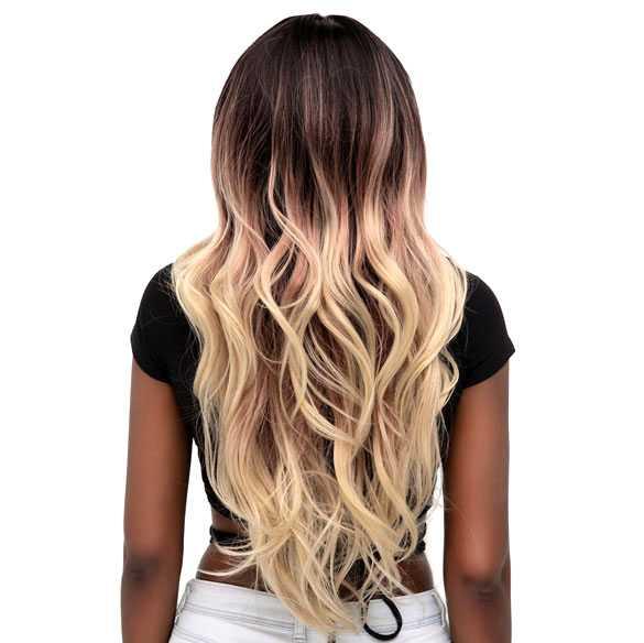 Lace pruik lang haar met grove slagen in laagjes model Sheyla kleur R3437