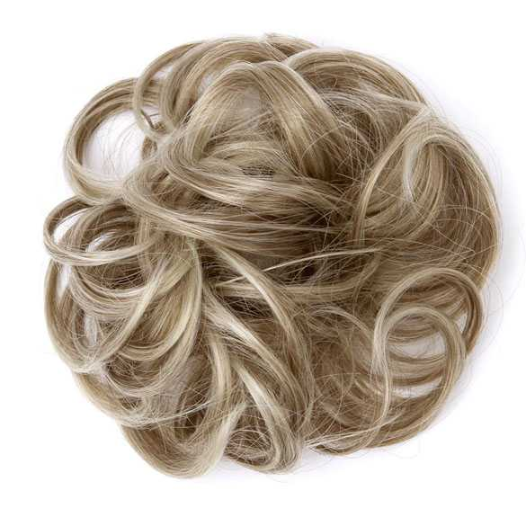 Haar scrunchie met elastiek blondmix kleur 6AT88