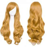 Carnaval Lolita pruik lang golvend haar Ginger Goud