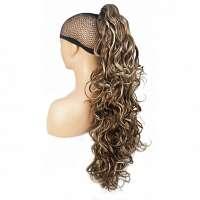 Paardenstaart lang haar met krullen op klem kleur 12TT26