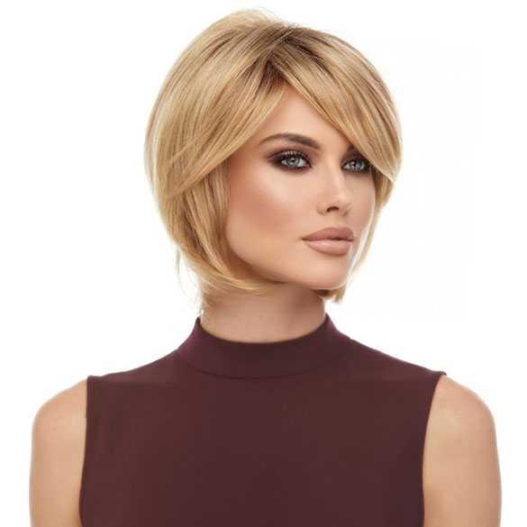 New Moderne pruik vlot kort model honing blond haar model Raquel #FJ38