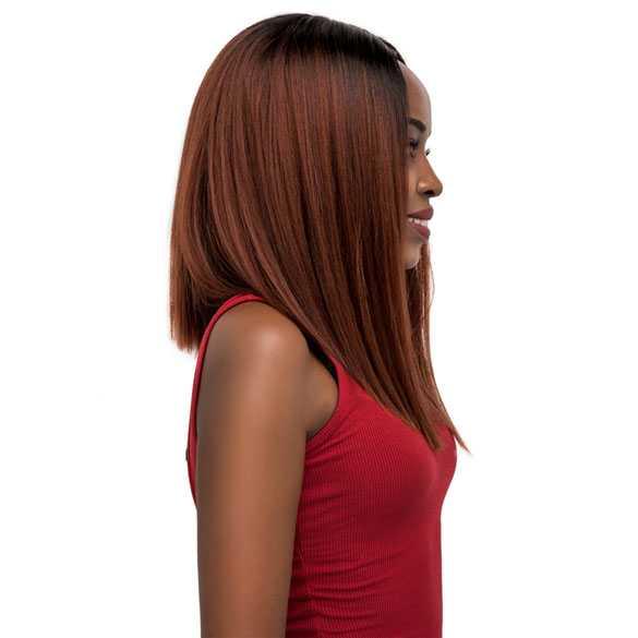 Lace pruik schouderlang steil haar zonder pony model Denisha