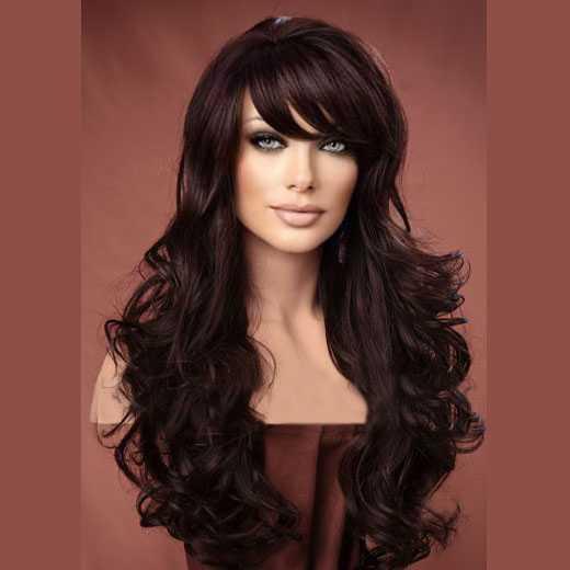 Pruik mix met echt haar model Noelle kleur 4