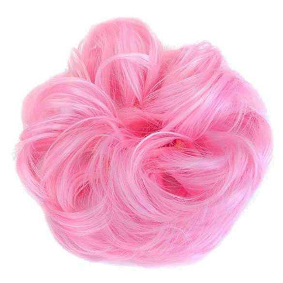 SALE : Color haar scrunchie met elastiek zoet roze