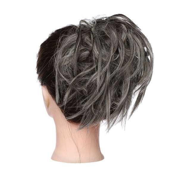 Warrige haar scrunchie met elastiek grijsmix 6AH613