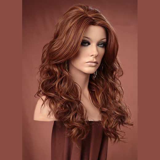 Pruik lang haar met krullen model Gabby kleur F30/27