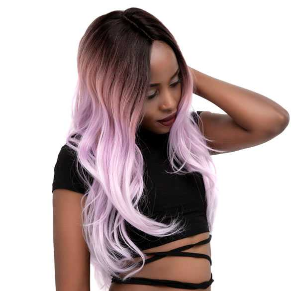 Lace pruik lang haar met grove slagen in laagjes model Sheyla kleur R3472