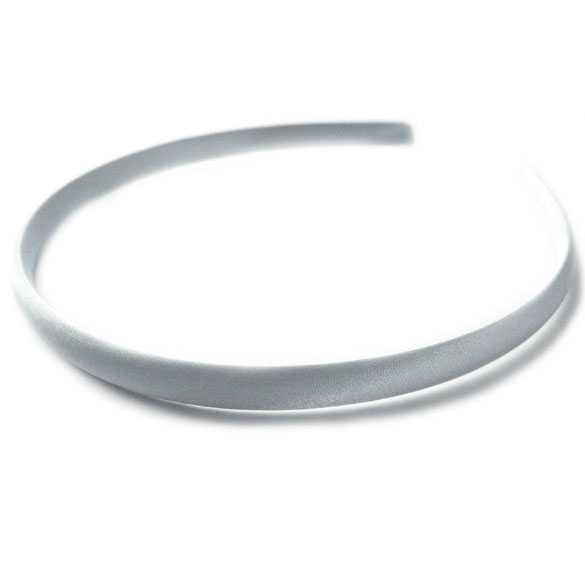 Diadeem / haarband satijn zilver