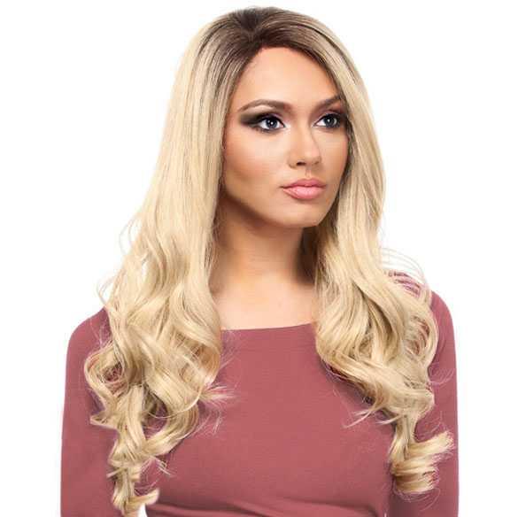 SALE : Lace front pruik lang blond haar met slagen Queen Helena