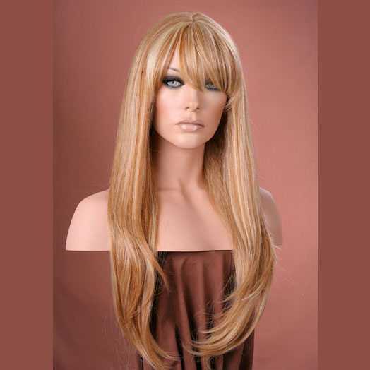 Pruik mix met echt haar model Trisha kleur F27-613