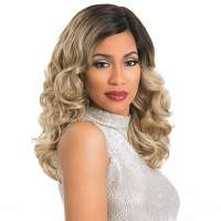 SALE : Sensationnel lace front pruik ombre blond krullen model Divine Curl