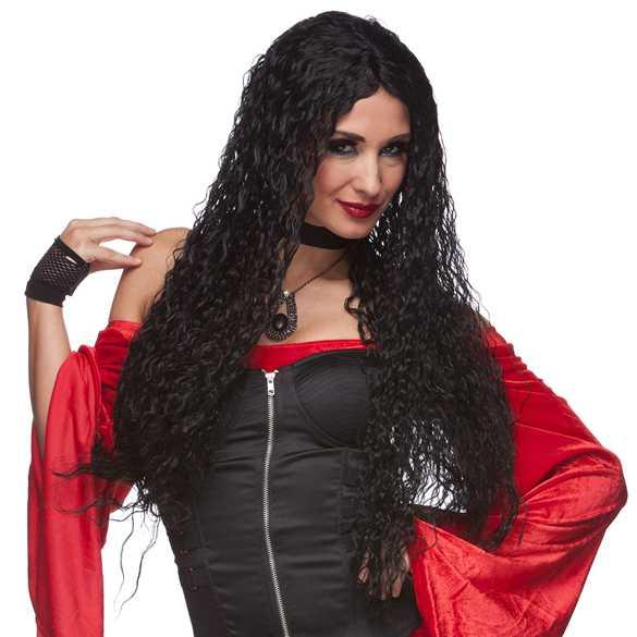SALE : Heksen Carnaval pruik lang haar + GRATIS haarnetje