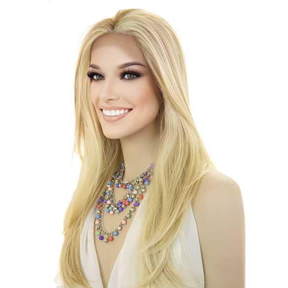 Lace pruik lang steil haar zonder pony model Dahlia FS27-613