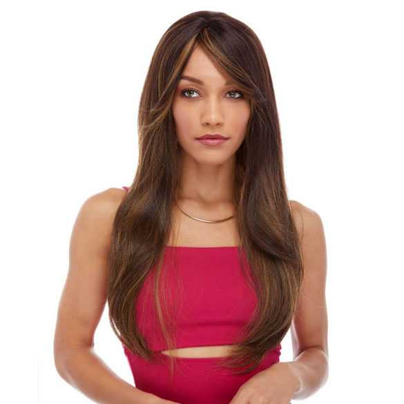 Pruik mix met echt haar model Trisha kleur P4/27