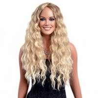 WEEK AANBIEDING : Mooie lange blonde pruik met golfjes