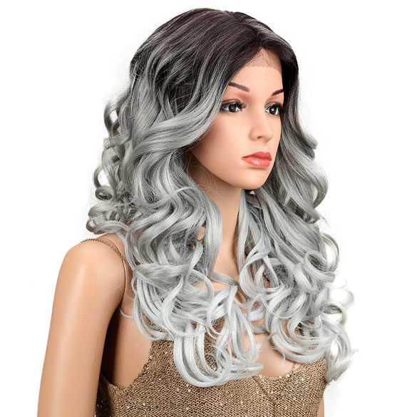 Lace front pruik lang haar met krullen model Margaret