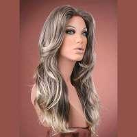 Sexy pruik lang haar met slagen model Jasmine kleur sand