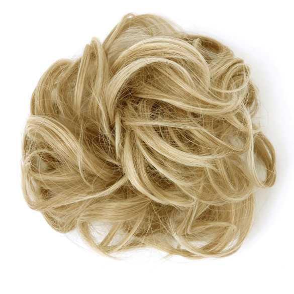 Haar scrunchie met elastiek blondmix kleur 24T613