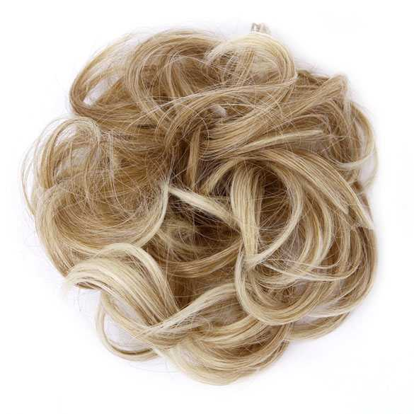 Haar scrunchie met elastiek blondmix kleur 27T613