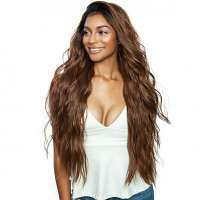 Brown Sugar swiss lace pruik mix met echt haar model Bryce