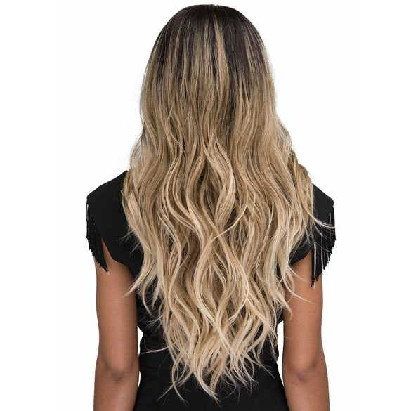 Bobbi Boss swiss lace front pruik met lang haar in blondmix model Eris