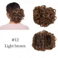 Chignon elastisch haarstukje / vlinderkam kleur 12