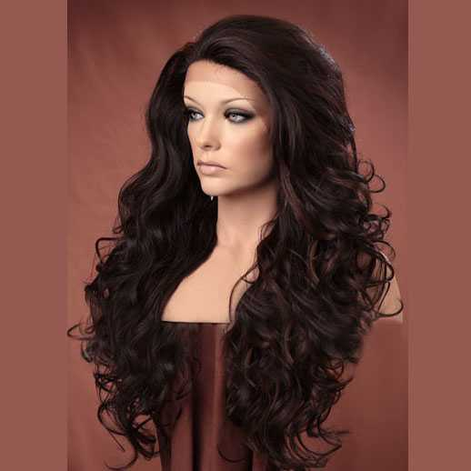 Lace pruik lang haar met krullen model Holiday kleur FS4/30