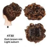 Chignon elastisch haarstukje / vlinderkam kleur 4T30