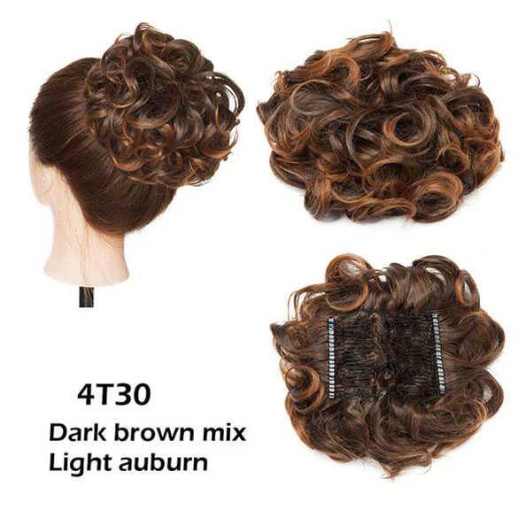 AANBIEDING : Chignon elastisch haarstukje / vlinderkam kleur 4T30