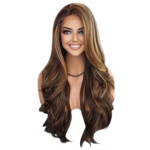 Lace pruik lang haar zonder pony model Kim kleur FS8-27-613
